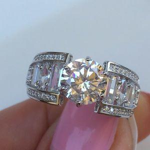 Jewelry - 14k white gold 3 CT diamond ring wedding band